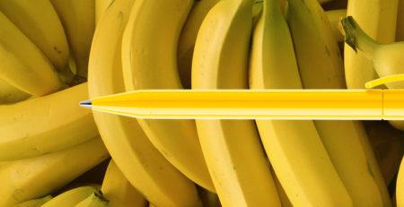 DS3 von Prodir der Kugelschreiber wie eine Banane
